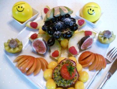 Früchtefasten-Teller