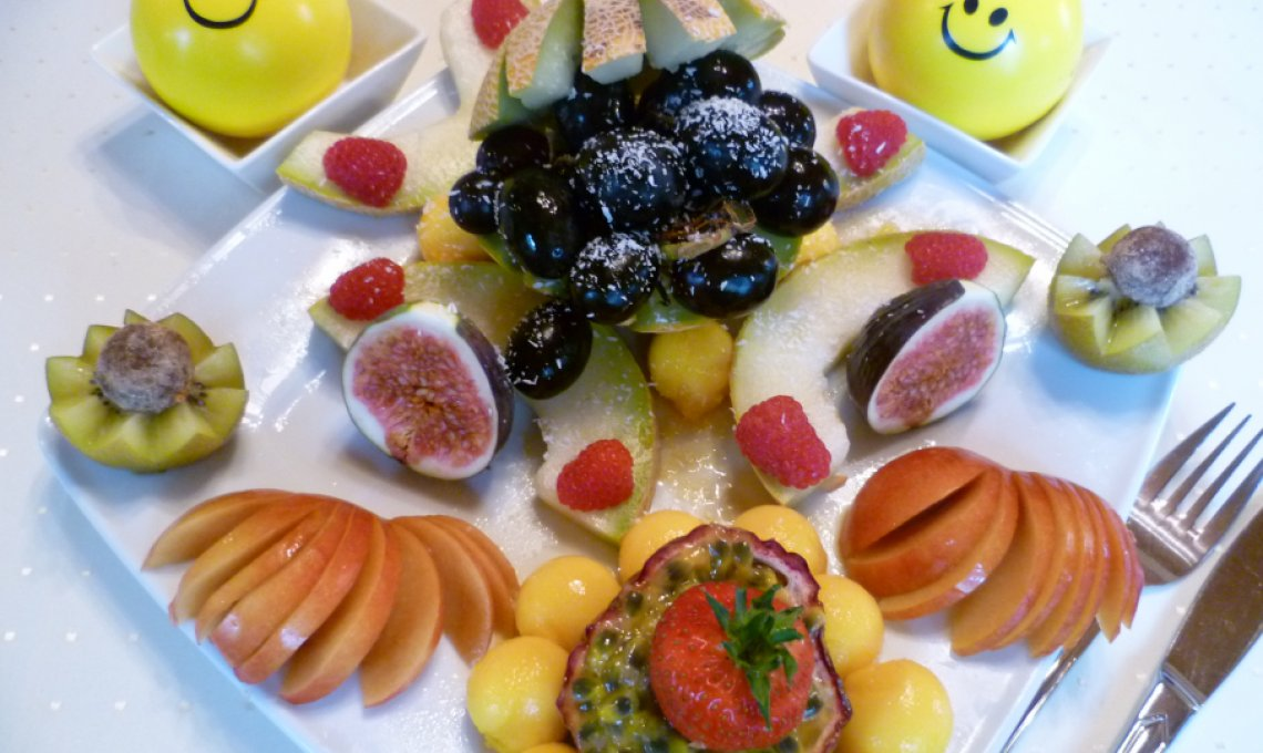 Typfasten als Früchtefasten mit frischen Früchten