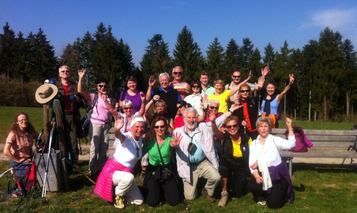 Teamfoto vom Fastenwandern im Schwarzwald