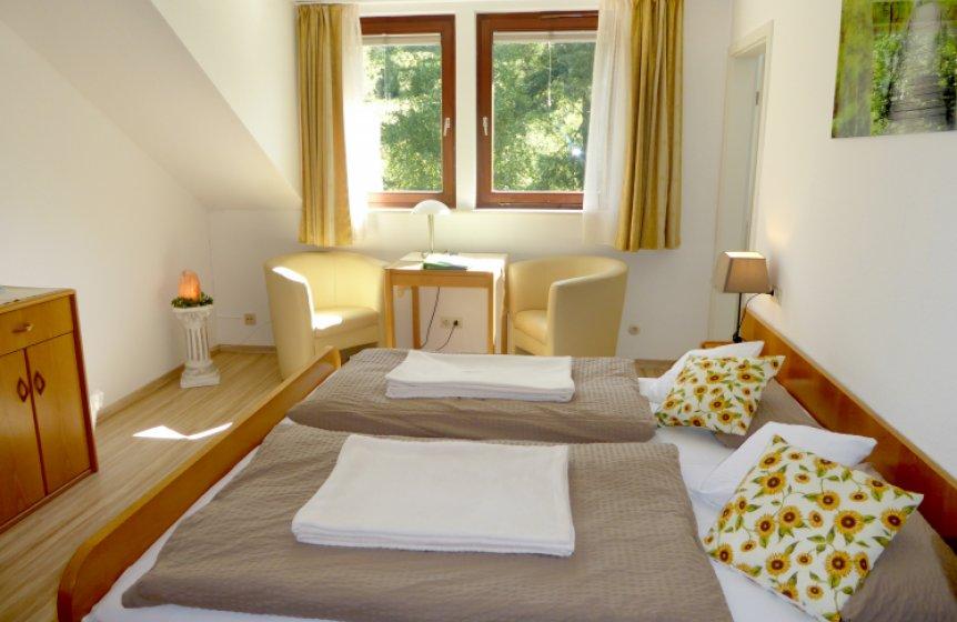 Doppelzimmer im Fastenzentrum Birkhalde