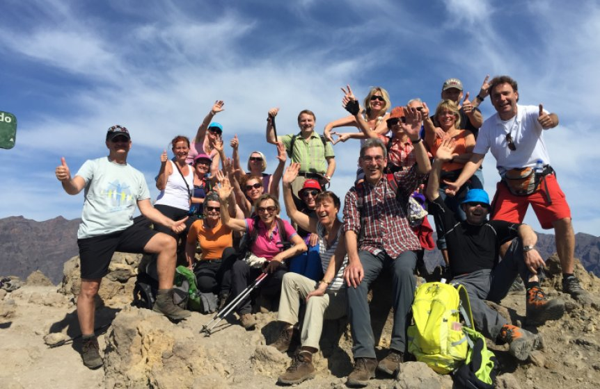 Unser Wanderteam auf La Palma fit und begeistert