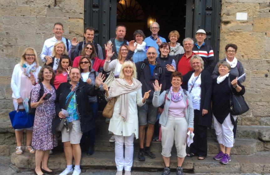 Stadtbesichtigung von Volterrra in der Toskana